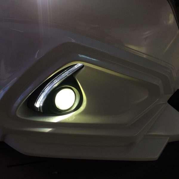 độ đèn bi gầm mazda 2