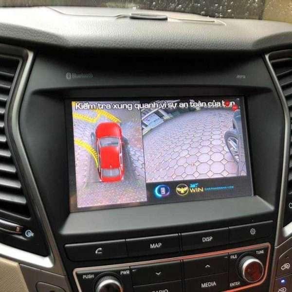 camera OWIN 360 độ lắp cho xe santafe