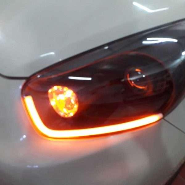 độ đèn led xe morning